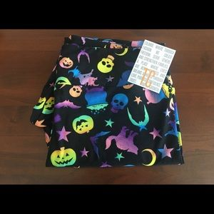NWT LuLaRoe TC Halloween Neon Leggings